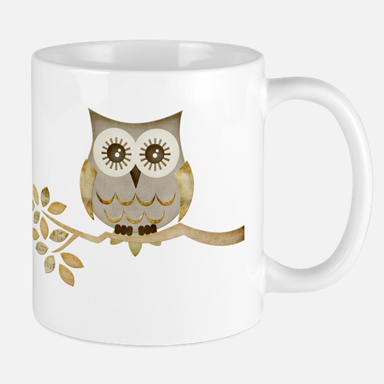 Wide Eyes Owl in Tree Mug