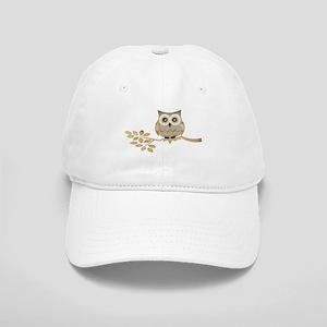 Wide Eyes Owl in Tree Cap