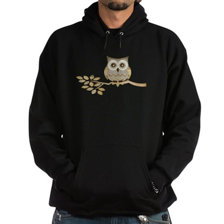 Wide Eyes Owl in Tree Hoodie (dark)