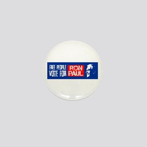 Free People for Ron Paul Mini Button