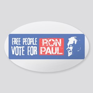 Free People for Ron Paul Sticker (Oval)