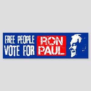 Free People for Ron Paul Sticker (Bumper)