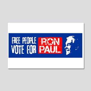 Free People for Ron Paul 22x14 Wall Peel