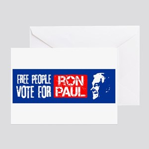 Free People for Ron Paul Greeting Card