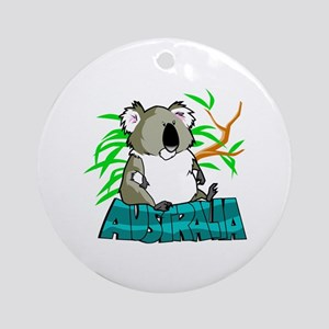 Koala Australia Souvenir Ornament (Round)