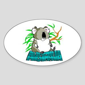 Koala Australia Souvenir Oval Sticker