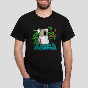 Koala Australia Souvenir Black T-Shirt