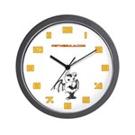 White Gretchling Wall Clock
