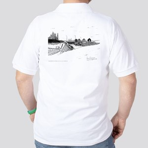 Digby Boats Pen and Ink White Golf Shirt