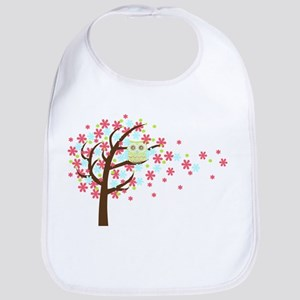 Pink Windy Tree Owl Bib