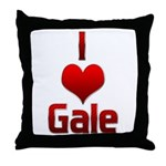 I Heart Gale Throw Pillow