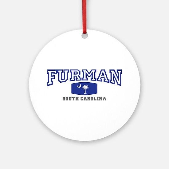 Furman South Carolina, SC, Palmetto State Flag Orn
