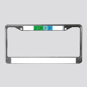 Periodic Father License Plate Frame