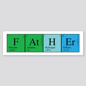 Periodic Father Sticker (Bumper)