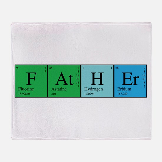 Periodic Father Throw Blanket