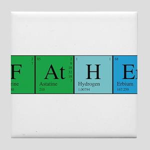 Periodic Father Tile Coaster