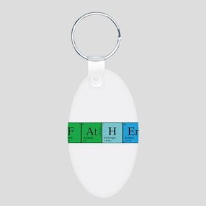 Periodic Father Aluminum Oval Keychain