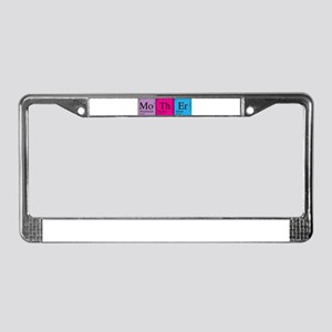 Periodic Mother License Plate Frame