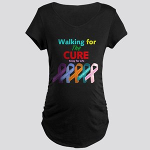 Walking for the CURE Maternity Dark T-Shirt