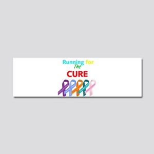 Running for the CURE Car Magnet 10 x 3