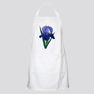Stained Glass Iris BBQ Apron