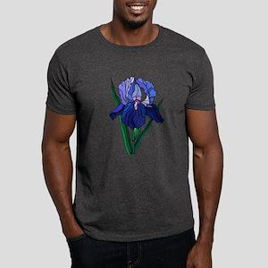 Stained Glass Iris Dark T-Shirt