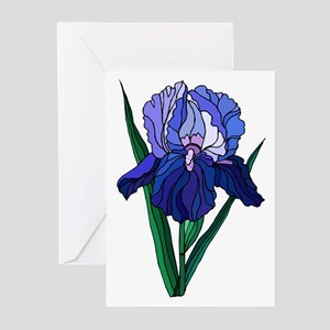 Stained Glass Iris Greeting Cards (Pk of 10)
