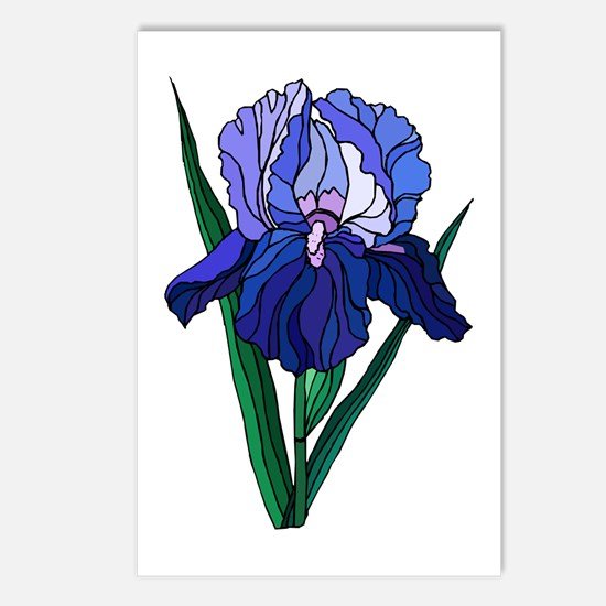 Stained Glass Iris Postcards (Package of 8)