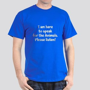 Speak For The Animals Dark T-Shirt
