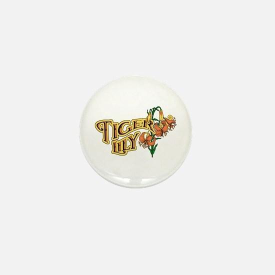 Tigerlily Mini Button