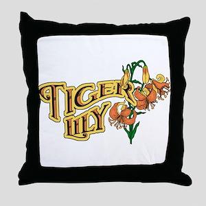 Tigerlily Throw Pillow