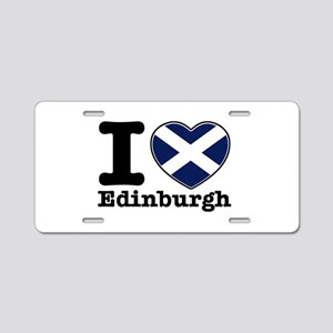 I love Edinburgh Aluminum License Plate