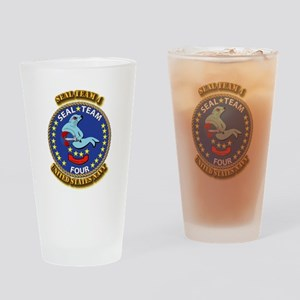 US - NAVY - Seal Team 4 Drinking Glass
