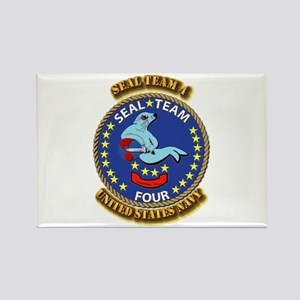 US - NAVY - Seal Team 4 Rectangle Magnet