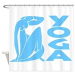 Let's Yoga Shower Curtain