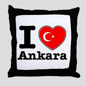 I love Ankara Throw Pillow