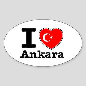 I love Ankara Sticker (Oval)