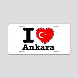 I love Ankara Aluminum License Plate