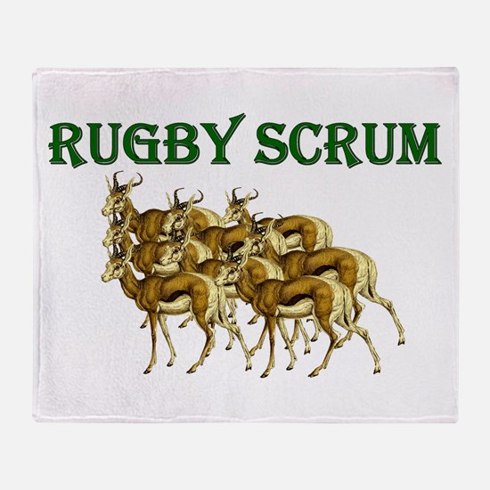 Springbok Rugby Scrum Throw Blanket