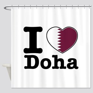 I love Doha Shower Curtain