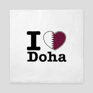 I love Doha Queen Duvet
