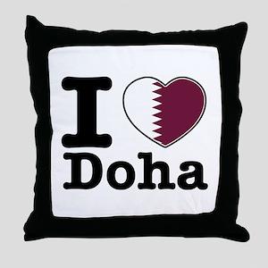 I love Doha Throw Pillow