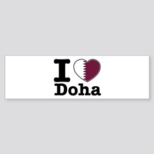 I love Doha Sticker (Bumper)