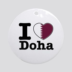 I love Doha Ornament (Round)
