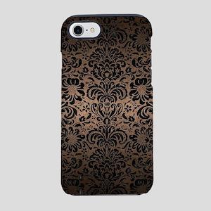 DAMASK2 BLACK MARBLE & BRONZE iPhone 7 Tough Case