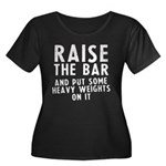 Raise the bar Women's Plus Size Scoop Neck Dark T-