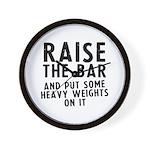 Raise the bar Wall Clock