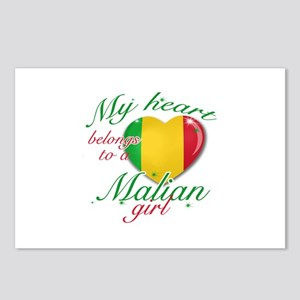 Malian Valentine's designs Postcards (Package of 8