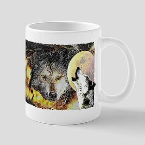 wolf howling Mug