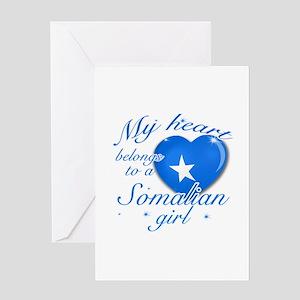 Somalian Valentine's designs Greeting Card